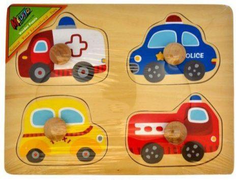 Fa puzzle fogatyús játművekkel