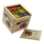 ABC Wood Bloks - Fa építőkocka készlet