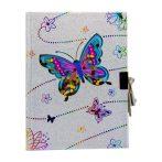 Emlékkönyv pillangós, lakattal
