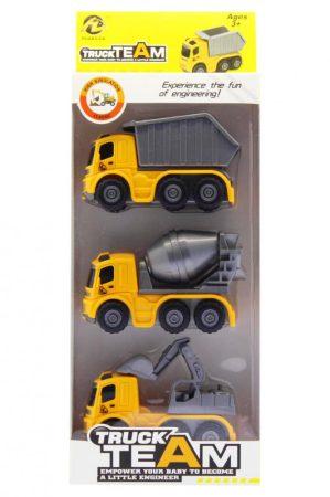 Truck Team játék munkagépek 3 dbos szett
