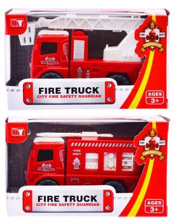 Játék tűzoltó autó, lendkerekes 2 féle