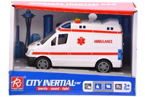 Funkciós játék mentőautó hanggal és fénnyel