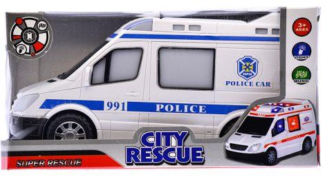 Elemes játék rendőr autó kisbusz