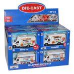 Food Truck fém játék autó 2 féle