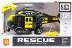 Játék rendőrségi helikopter elemes fekete színben