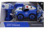 Játék szerelős rendőrautó elemes fúrógéppel
