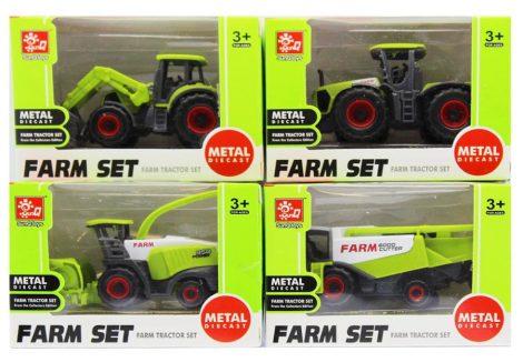 Játék mezőgazdasági munkagépek 4 féle