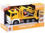 Játék autószállító kamion taxival