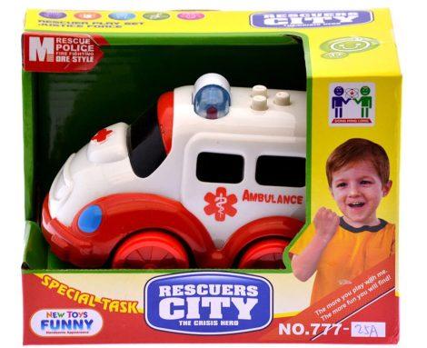Játék mentőautó kicsiknek