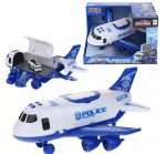 Elektromos játék repülőgép - rendőrségi jármű szállító