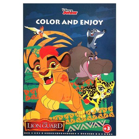 Disney Oroszlánőrség színező mintával Kiddo