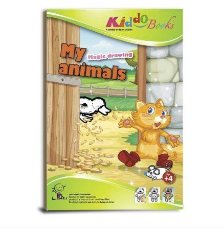 Varázs színező Állatokkal Kiddo Books