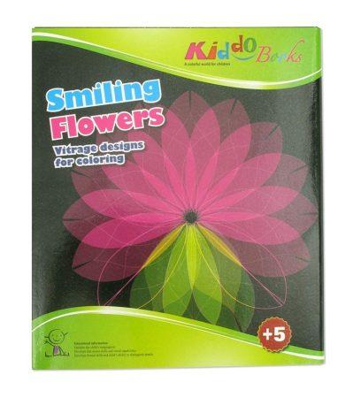 Vidám virágok - Vitrage színező - Ablakdísz készítő Kiddo Books