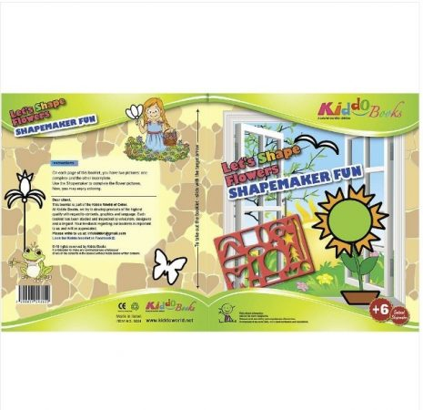 Készíts virágokat sablonos foglalkoztató Kiddo Books
