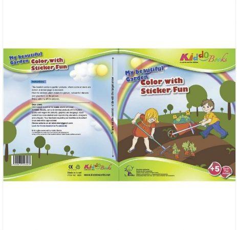 Csodálatos kiskertem Matricás szinezõ Kiddo Books