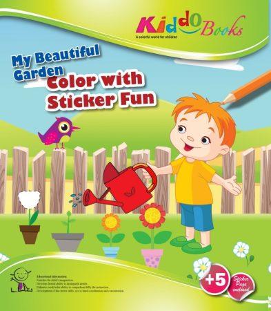 Csodálatos kiskertem Matricás színező füzet Kiddo Books