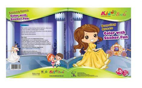 Hercegnős színező - Matricákkal - Kiddo