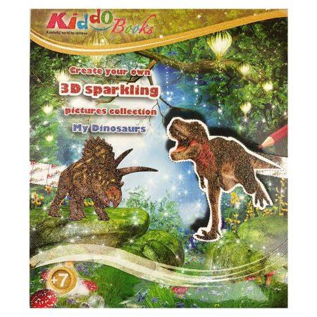 Dínós játék - 3D foglalkoztató füzet Kiddo