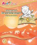 Szafari 3D csillogó képek foglalkoztató Kiddo Books
