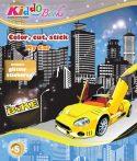 Autós színezők glitteres matricákkal