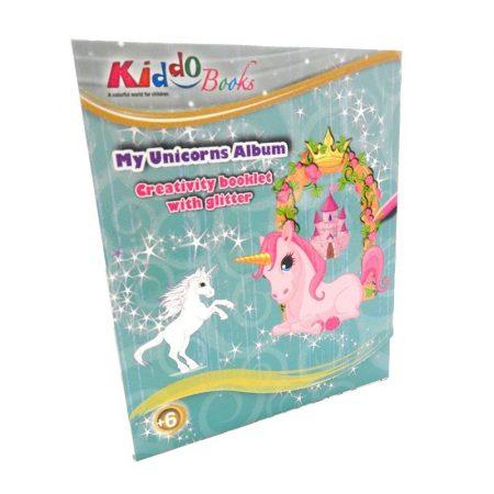 Csillámló unikornisok foglalkoztató füzet Kiddo Books