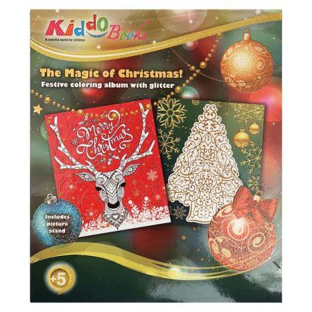 Glitteres karácsonyi színező Kiddo