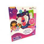 Dóra és Barátai Szinező Glitteres matricákkal Kiddo Books