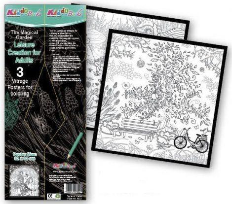 Mágikus kert Vitrage poszterek 23x33cm Kiddo Books