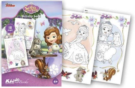 Szófia Hercegnő színező Kiddo Books