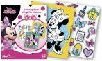 Minnie Egér foglalkoztató füzet glitteres matricákkal Kiddo Books