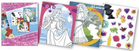 Disney Hercegnők foglalkoztató füzet glitteres matricákkal Kiddo Books