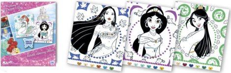 Disney Hercegnők színezz számok szerint foglalkoztató Kiddo Books
