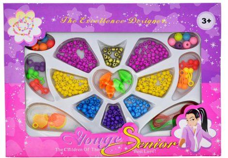 Ékszerkészítő gyöngy készlet gyerekeknek