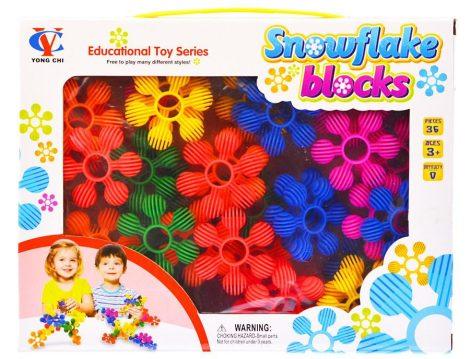 Virág építő játék 36 db-os