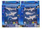 3D Gipsz tengeri állat kifestő készlet