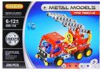 Metal models tűzoltóautó fémépítő játék