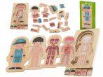 Fa montessori testépítő puzzle - Lányos