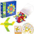 Fa Montessori kirakó játék 155 db-os