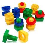 Montessori játék csavarok