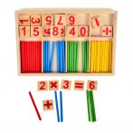 Számolást segítő logikai játék alapműveletekkel - Montessori oktatási készlet
