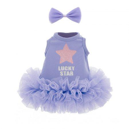 Lucky Doggy kegészítő lila ruha masnival Orange Toys