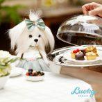 Lucky Doggy Mimi plüss kutya zöld ruhában Orange Toys