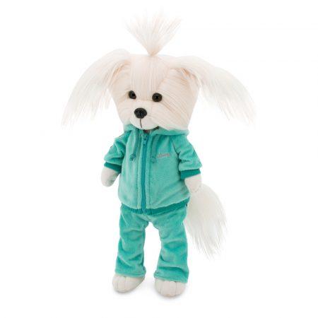 Lucky Doggy Mimi plüss kutya zöld fitness ruhában Orange Toys