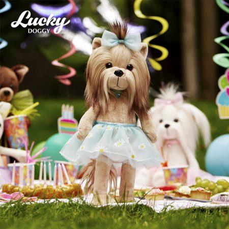 Lucky Doggy Yoyo plüss kutya tüll szoknyában Orange Toys
