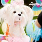 Lucky Doggy Mimi plüss kutya pink szoknyában Orange Toys