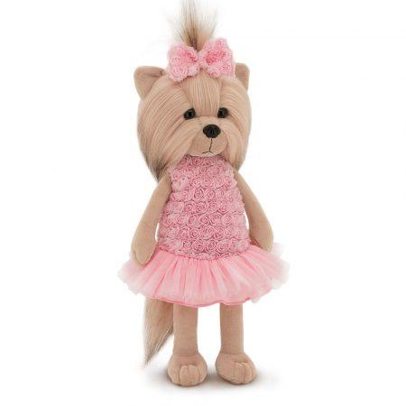 Lucky Doggy Yoyo plüss kutya rózsás pink ruhában Orange Toys
