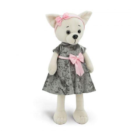Lucky Doggy Lili plüss kutya szürke ruhában Orange Toys