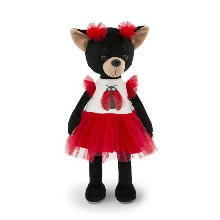 Lucky Doggy Blacky plüss kutya katicás ruhában Orange Toys