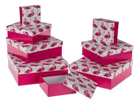Flamingós ajándékdoboz szett