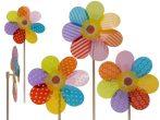 Szélforgó fanyéllel virág alakú 23 x 56 cm